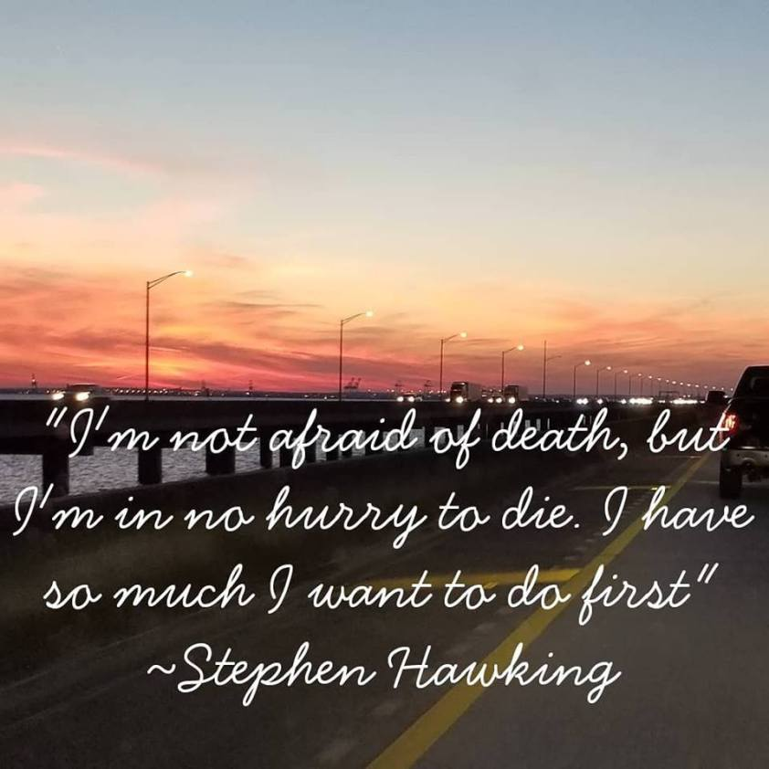 My pic, Stephen Hawking quote